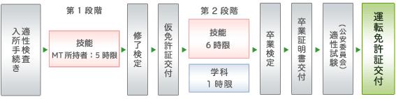 準中型5t限定免許所持者の免許取得の流れ